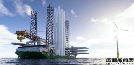 KNUD E. HANSEN新推风力涡轮机安装船设计