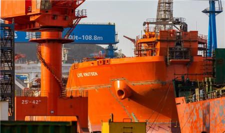 舟山中远海运重工两型油轮完成多个关键生产节点