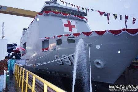 印尼PT PAL船厂一艘医院船下水
