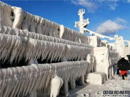 """招商轮船""""明富""""轮渤海湾除冰记"""