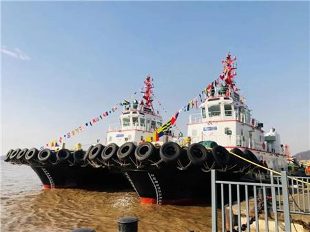 港兴拖轮两艘新建4000马力拖轮加盟宁波舟山港