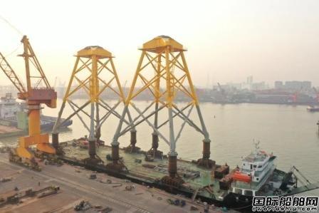 广东中远海运重工整体交付首批海上风电导管架