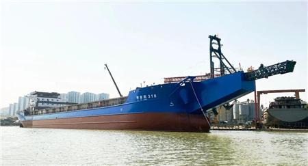 两艘入级中国船级社沿海自卸砂船顺利下水