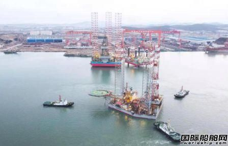 威海金陵承修海洋石油921平台下驳收官