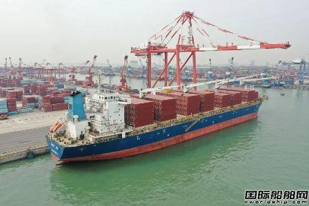 """中远海运特运多用途船""""鼎海""""轮开启集装箱航运旅程"""