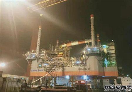 威海金陵承修渤海自立号完成升船节点