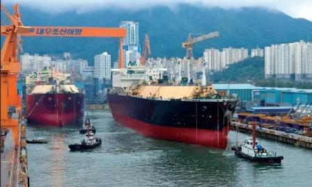 """6艘LNG船订单来了!2021年中韩船企首次""""对决"""""""