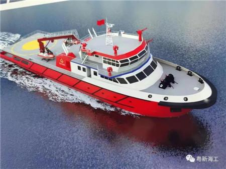 粤新海工再签高性能消防船建造项目