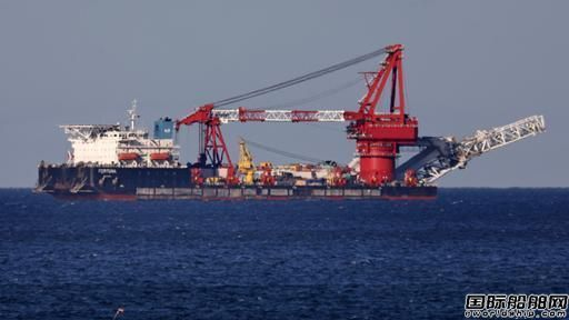 """无惧制裁?俄罗斯铺管船丹麦重新投入""""北溪2号""""施工"""