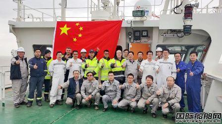 沪东中华23000TEU集装箱船4号船常规试航凯旋