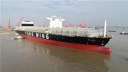 提前3个月交付!阳明海运万箱船加紧投入运营