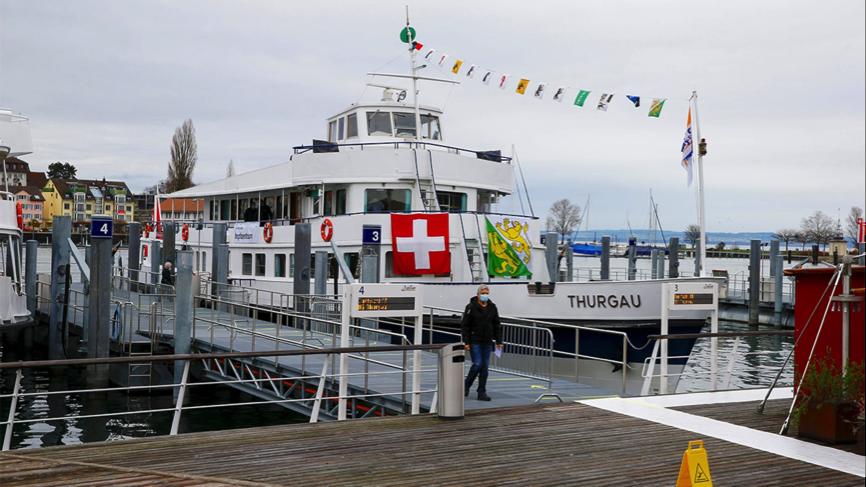 瑞士一艘邮轮被改成新冠疫苗接种中心