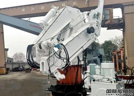 中船绿洲成功研制主动波浪补偿起重机顺利发货