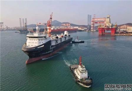 中集来福士为挪威阿克集团建造南极磷虾运输船交付离港