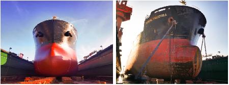 """南通中远海运船务完成""""西奥多拉""""轮修理工程"""