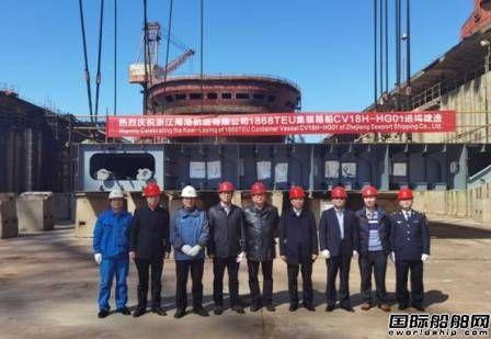 扬帆集团开工大吉各新造船项目建造节点繁忙有序开展