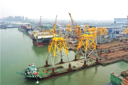 广东中远海运重工F003项目风电导管架全部交付