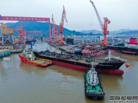 马尾造船两艘船同日顺利出坞
