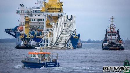 """俄罗斯无惧制裁派第二艘铺管船参与""""北溪2号""""工程"""