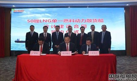 """50艘!中船广西""""绿色珠江""""项目LNG动力散货船正式签约"""