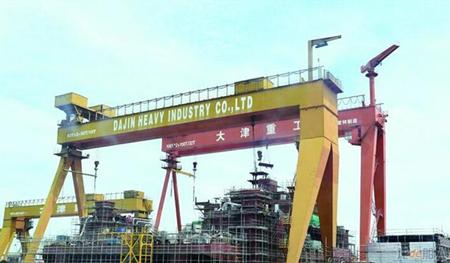 大津重工接获水欣船务一艘137米打桩船订单