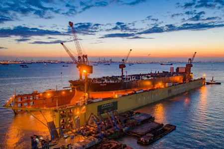 """上海中远海运重工""""猎鹰""""轮项目质量管控获船东肯定"""