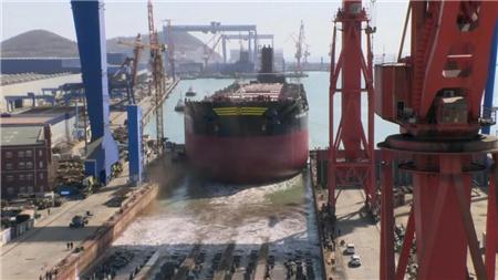 渤船重工连续实现下水试航两大节点