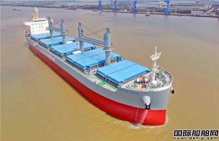 江门南洋船舶交付今年第一艘新造船