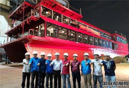 凯力船艇一艘新能源观光游览船下水
