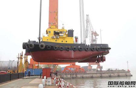 舜天造船建造23米拖轮顺利下水