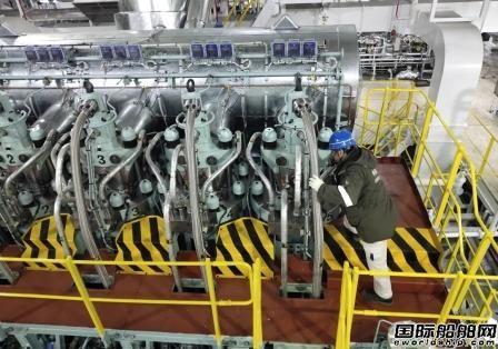 大连中远海运重工一艘多用途纸浆船提前十天完成主机动车
