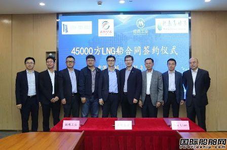 招商工业与赤道基金签订一艘45000方LNG船交易合同