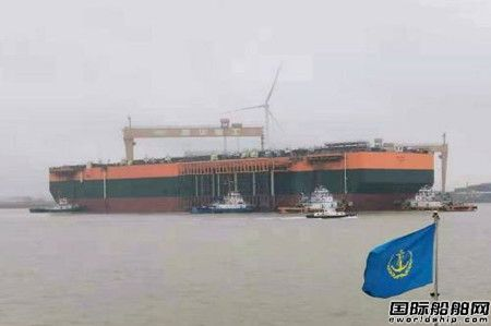 """启东中远海运海工建造FPSO""""Tortue-N999""""号出坞"""