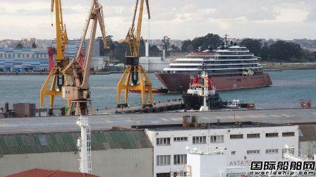 """丽思卡尔顿首艘邮轮""""Evrima""""号开始外舾装计划7月首航"""