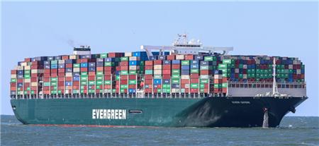 """长荣海运""""EVER GIVEN""""轮苏伊士运河搁浅卡住上百艘船"""