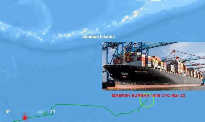 马士基旗下13000TEU箱船太平洋上发生故障