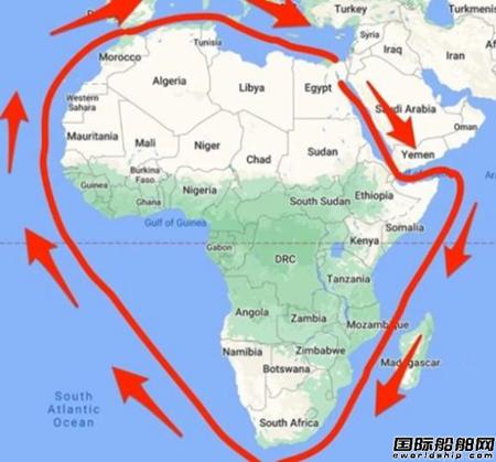 """300多艘船""""大排长荣""""!全球航运巨头纷纷改道好望角"""