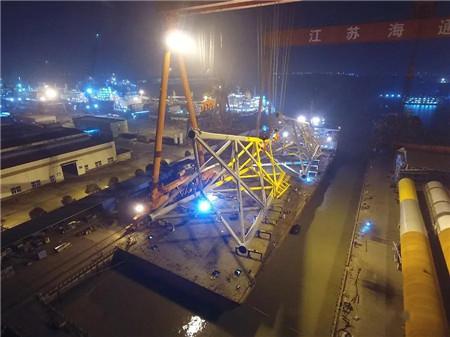 江苏海通为南通惠生重工建造首批导管架体顺利交付