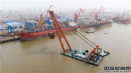 """南通中远海运船务""""弗拉门科""""轮主体分段吊装全部完工"""