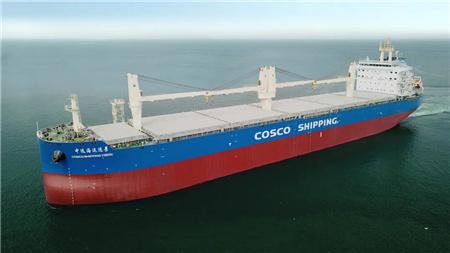 大连中远海运重工62K系列纸浆船创最快海试记录