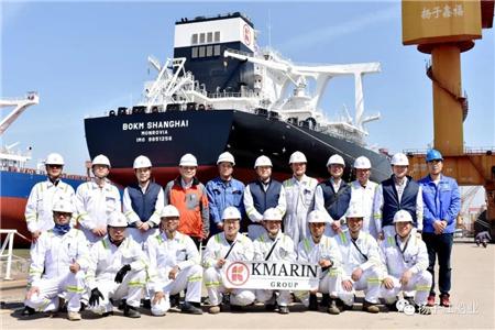 扬子鑫福首制32.5万吨VLOC顺利出坞
