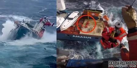 一艘大件运输船挪威海上遇险面临倾覆12人获救