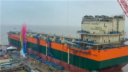 启东中远海运海工为BP建造首艘FPSO下水