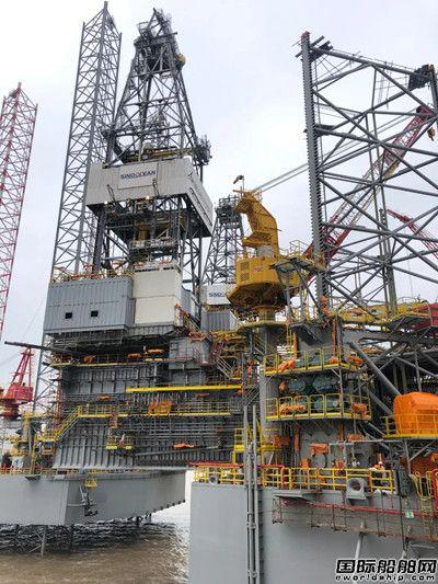 外高桥海工H1349平台完成悬臂梁全程滑移试验