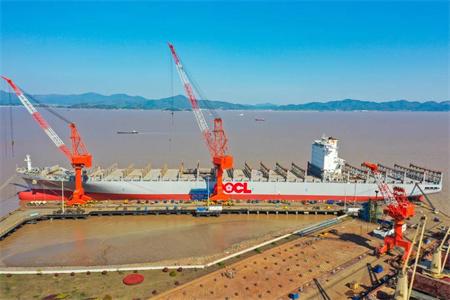 舟山中远海运重工完成东方海外两艘船修理改装提前开航