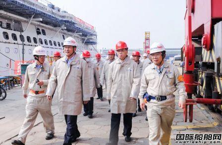 雷凡培到外高桥造船调研国产首艘大型邮轮建造进展