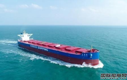 扬州中远海运重工又一艘21万吨散货船顺利命名