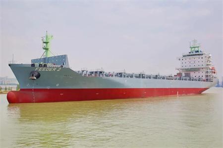 广东中远海运重工一艘1750TEU集装箱船完成试航节点