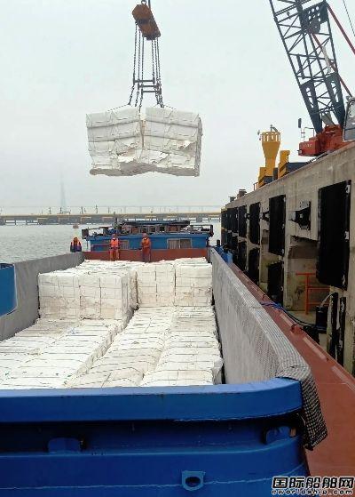 """珠海港航运""""祥瑞588""""船开启长江航运业务"""