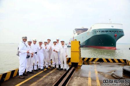 南京金陵船厂为Finnlines建造5800米车道货物滚装船出坞